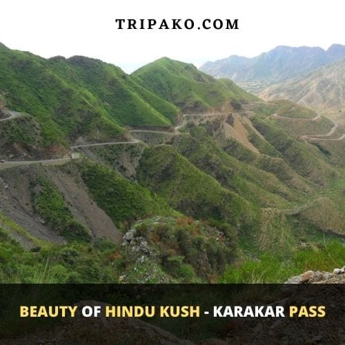 Scenic view of Karakar pass Hindu Kush